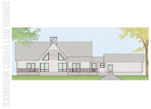 Log Home Plan #07748