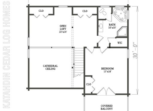 Log Home Plan #07752