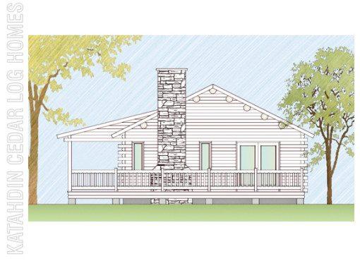 Log Home Plan #07754