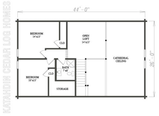 Log Home Plan #07774