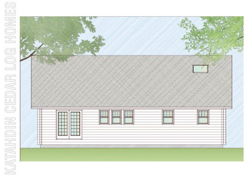 Log Home Plan #07774