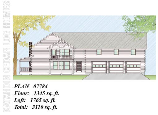 Log Home Plan #07784