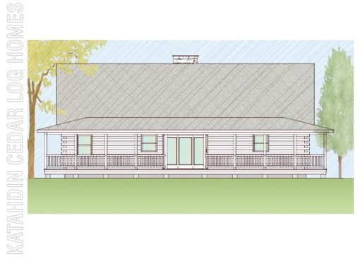 Log Home Plan #07803