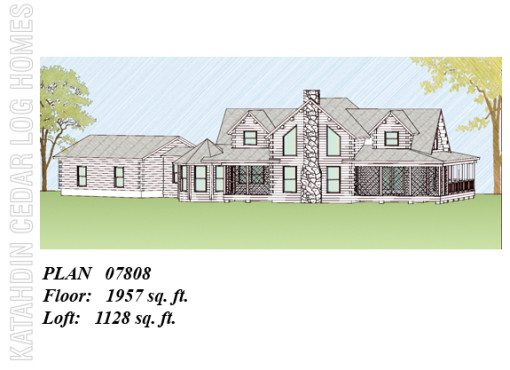 Log Home Plan #07808