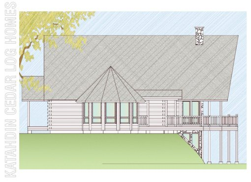 Log Home Plan #07810
