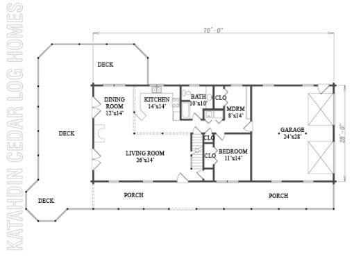 Log Home Plan #07816