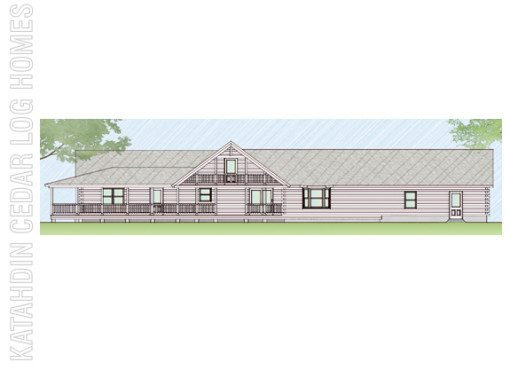 Log Home Plan #07817