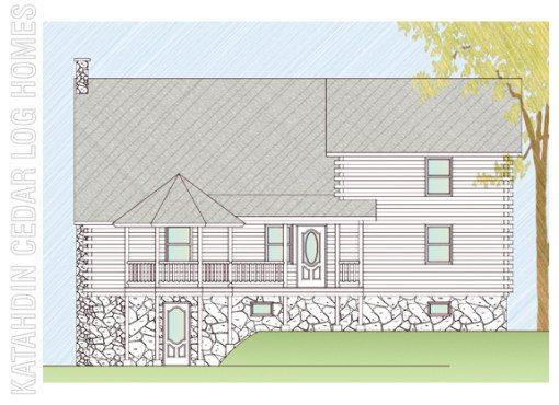 Log Home Plan #07823