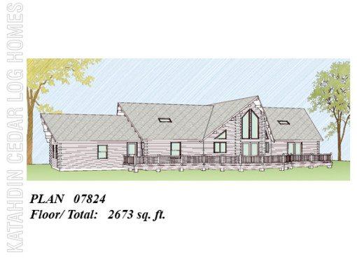 Log Home Plan #07824