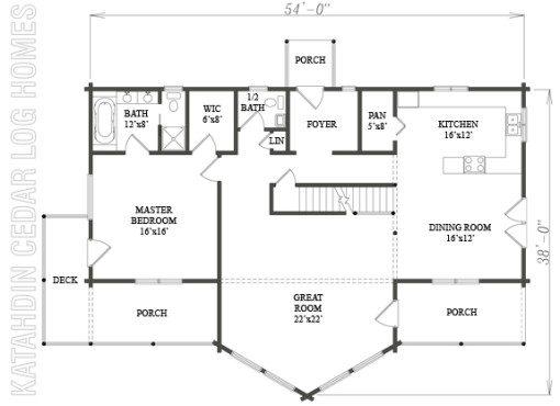 Log Home Plan #07832