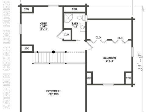 Log Home Plan #07854