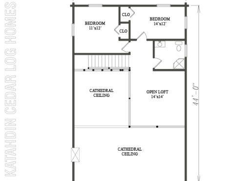Log Home Plan #08820