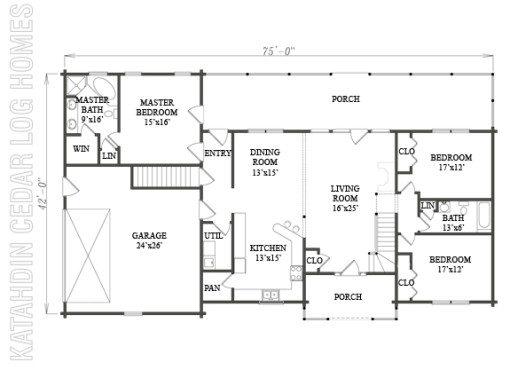 Log Home Plan #08826
