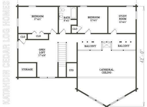 Log Home Plan #08828