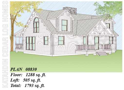 Log Home Plan #08830