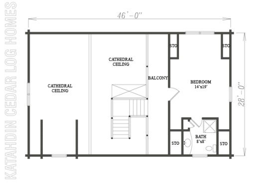Log Home Plan #08830