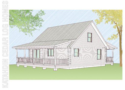 Log Home Plan #08831