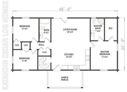 Log Home Plan #08837