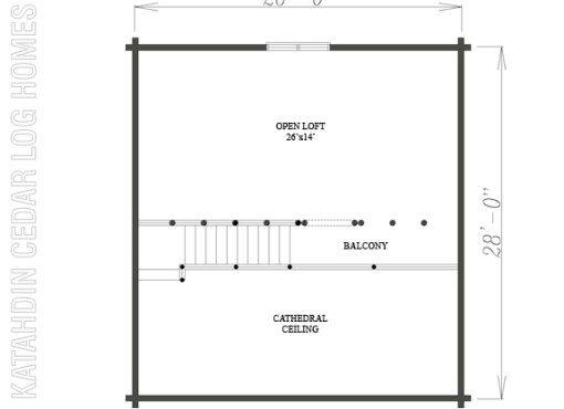 Log Home Plan #08844