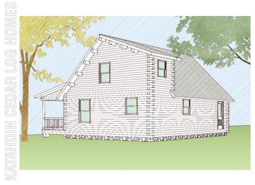 Log Home Plan #08845