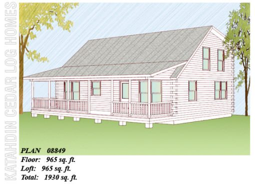 Log Home Plan #08849