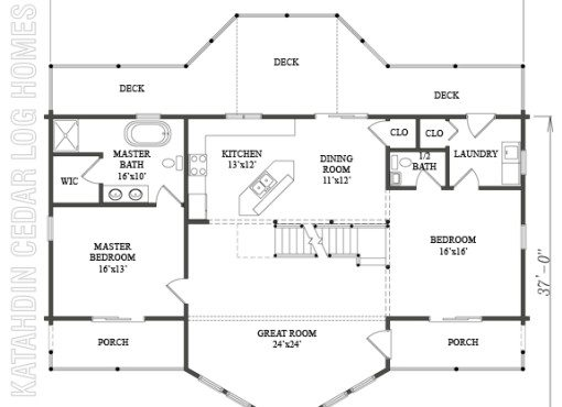 Log Home Plan #08853