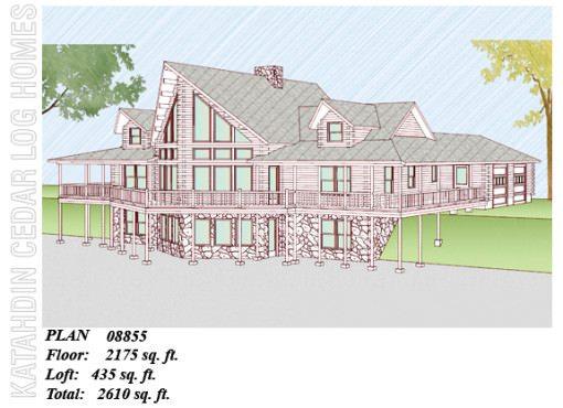 Log Home Plan #08855