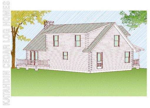 Log Home Plan #08857