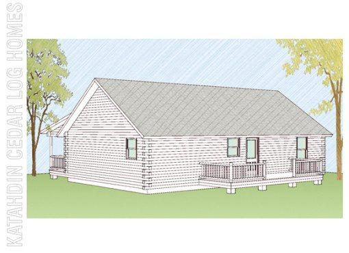 Log Home Plan #08862