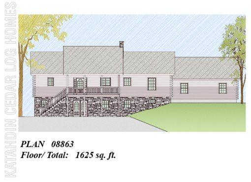 Log Home Plan #08863