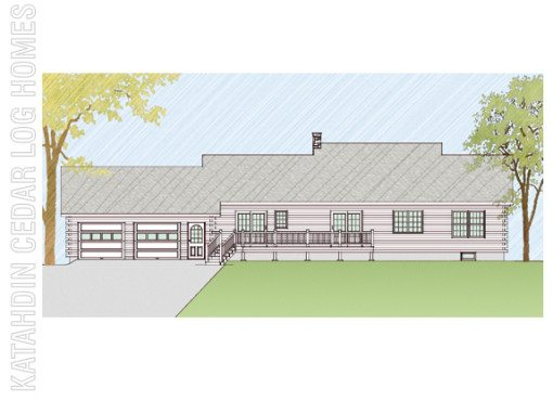 Log Home Plan #08863
