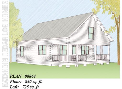 Log Home Plan #08864
