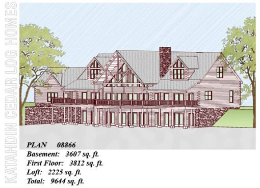 Log Home Plan #08866