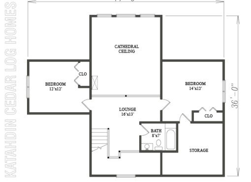 Log Home Plan #08873