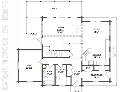 Log Home Plan #08874