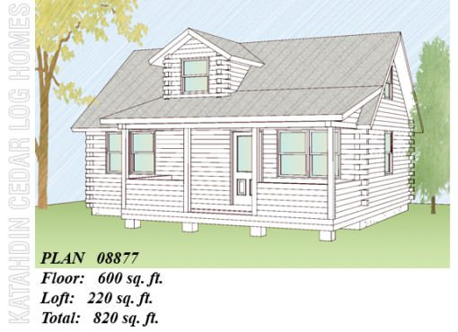 Log Home Plan #08877