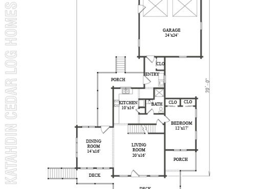 Log Home Plan #08883