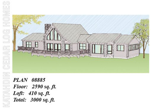 Log Home Plan #08885