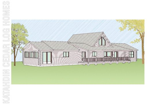 Log Home Plan #08885