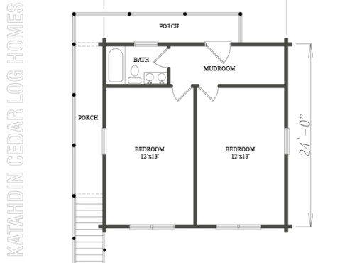 Log Home Plan #08887