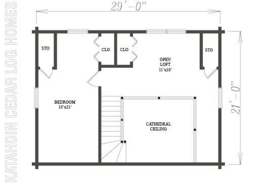 Log Home Plan #08897