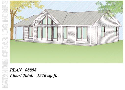 Log Home Plan #08898