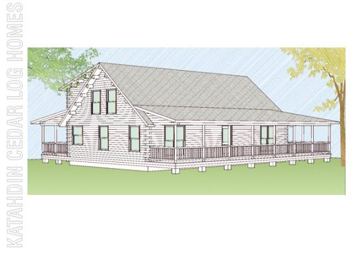 Log Home Plan #08899