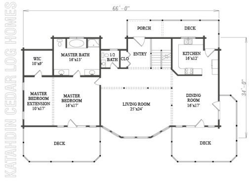 Log Home Plan #08900