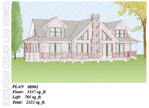 Log Home Plan #08901