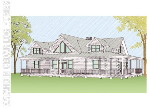 Log Home Plan #08906