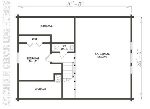 Log Home Plan #08908