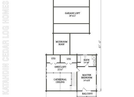 Log Home Plan #08911