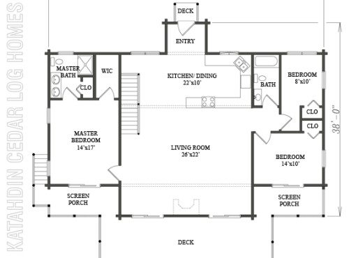 Log Home Plan #08913