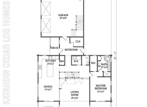 Log Home Plan #08926